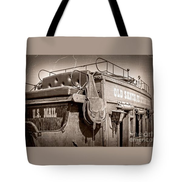 Old Santa Fe Stagecoach Tote Bag