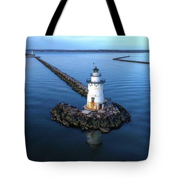 Old Saybrook Outer Lighthouse Tote Bag