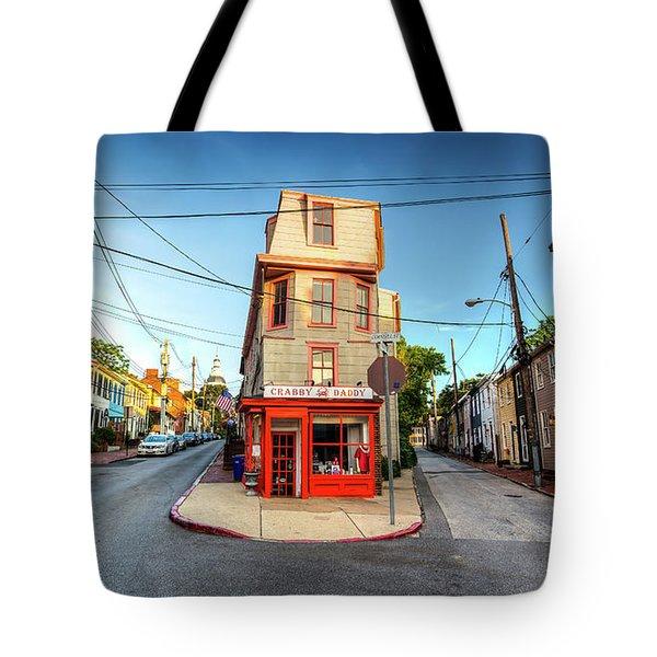 Old School Annapolis Tote Bag