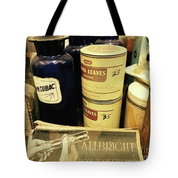 Old School Medicine  Tote Bag by Michael Krek
