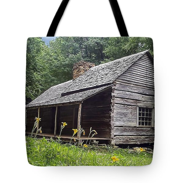 Old Settlers Cabin Smoky Mountains National Park Tote Bag