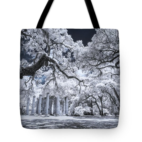 Old Sheldon Church In Infrared Tote Bag