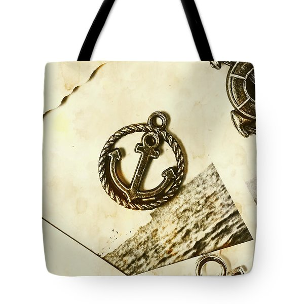 Old Shipping Emblem Tote Bag