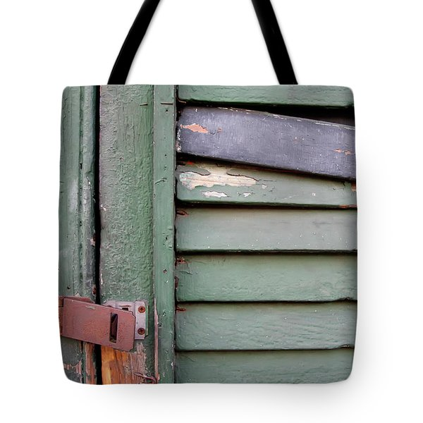 Tote Bag featuring the photograph Old Shutters French Quarter by KG Thienemann