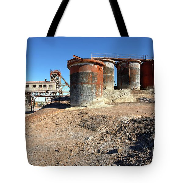 Tote Bag featuring the photograph Old Silver Mine Broken Hill by Bill Robinson