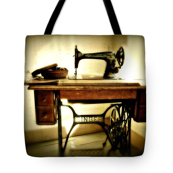 Old Singer Tote Bag by Perry Webster