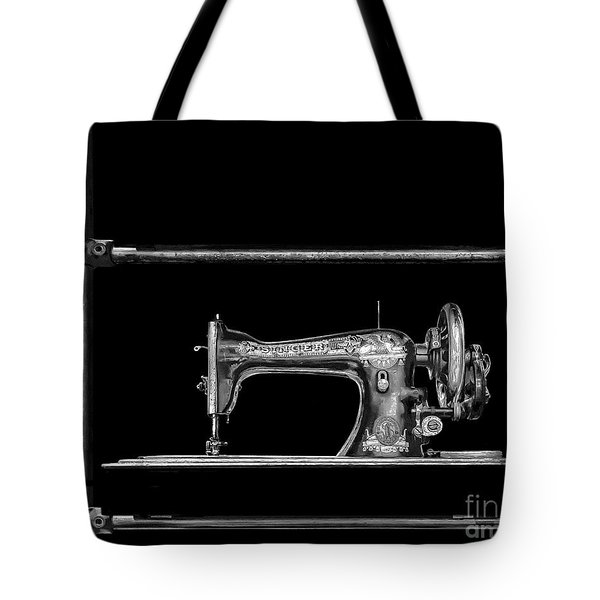 Old Singer Sewing Machine Tote Bag