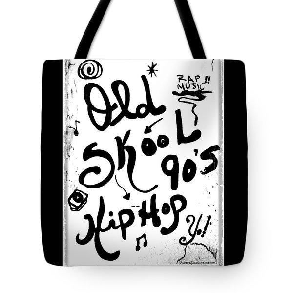 Old-skool 90's Hip-hop Tote Bag