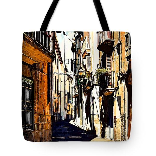 Old Spanish Street Tote Bag