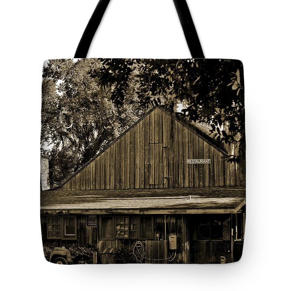 Tote Bag featuring the photograph Old Spanish Sugar Mill Sepia by DigiArt Diaries by Vicky B Fuller