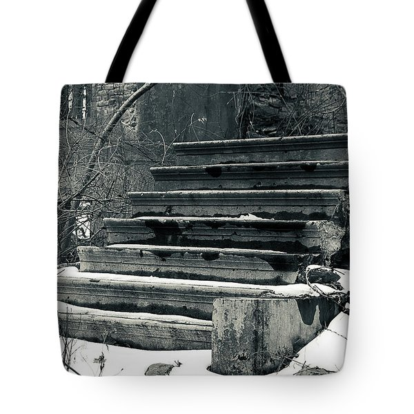 Old Stairs To Nowhere Tote Bag by Jeff Severson
