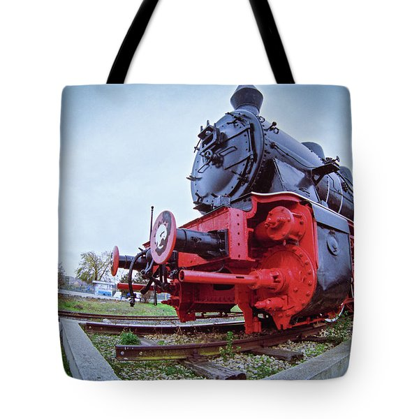 Old Steam Locomotive Close Up Tote Bag