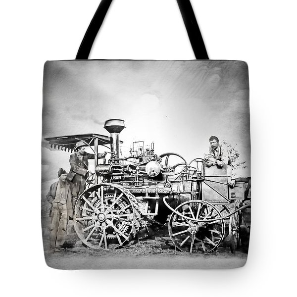 Old Steam Tractor Tote Bag by Mark Allen