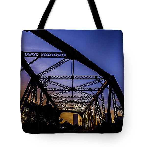 Old Steel Bridge Tote Bag