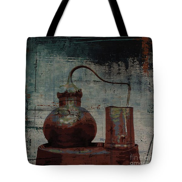 Tote Bag featuring the digital art Old Still Bar by Megan Dirsa-DuBois