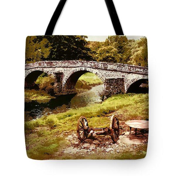 Old Stone Bridge In France Tote Bag