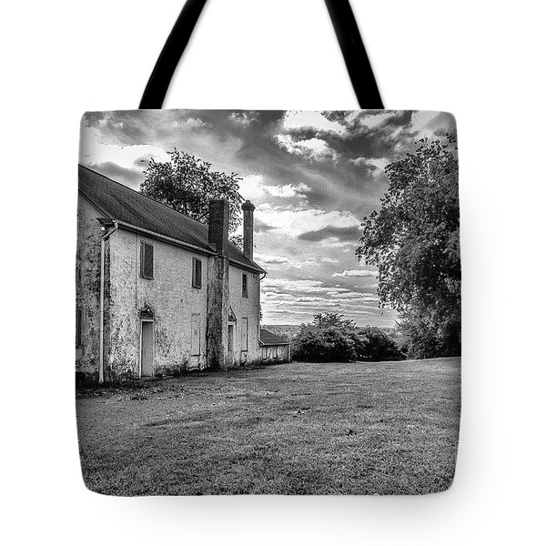 Old Stone House Black And White Tote Bag