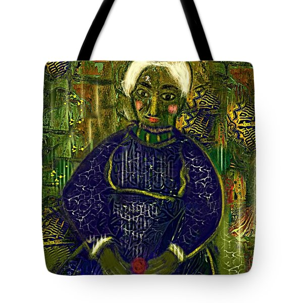Tote Bag featuring the digital art Old Storyteller by Alexis Rotella