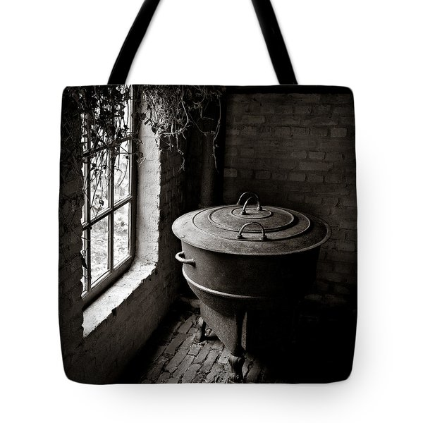 Old Stove Tote Bag by Dave Bowman