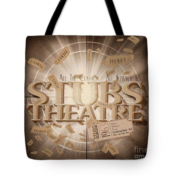 Old Stubs Theatre Advert Tote Bag