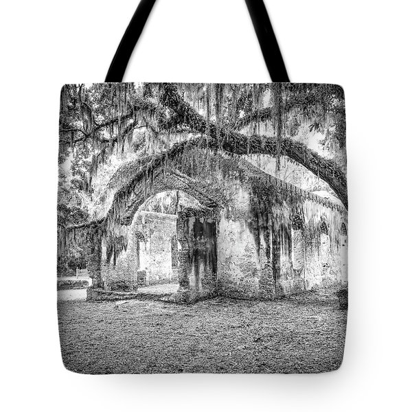 Old Tabby Church Tote Bag