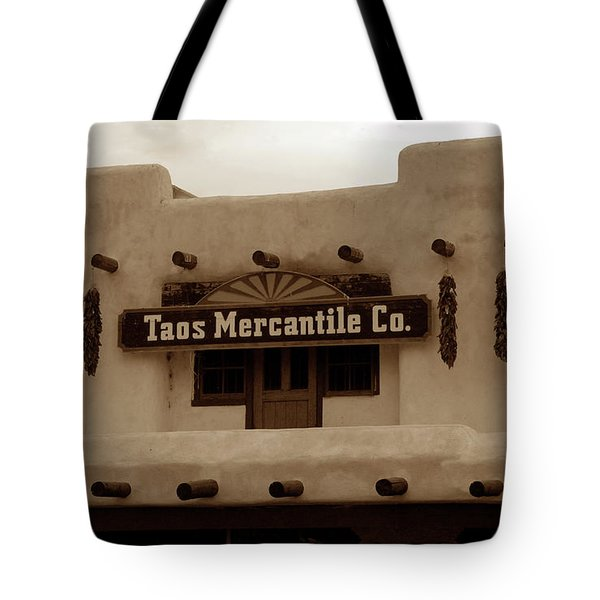 Old Taos Tote Bag by David Lee Thompson