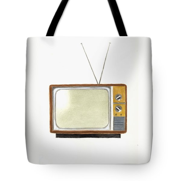 Old Television Set Tote Bag by Michael Vigliotti