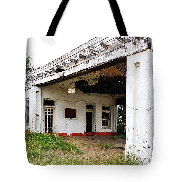 Old Texas Gas Station Tote Bag by Marilyn Hunt