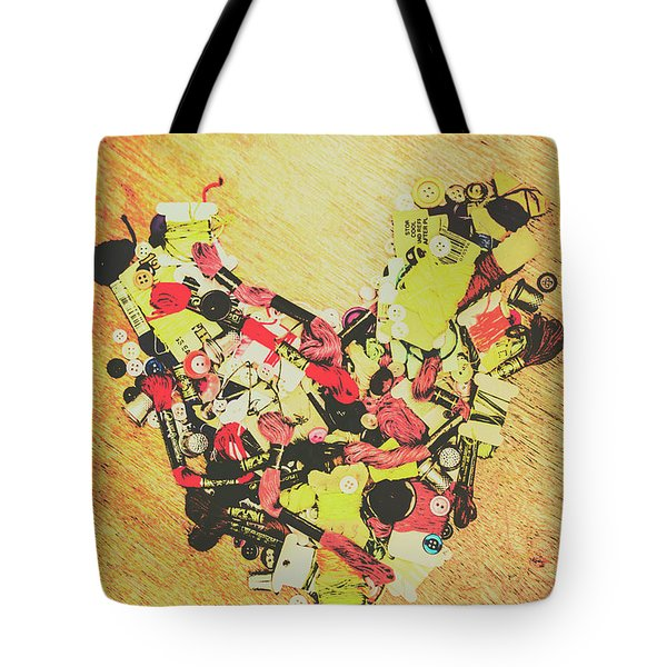 Old Threads And Hearts Tote Bag