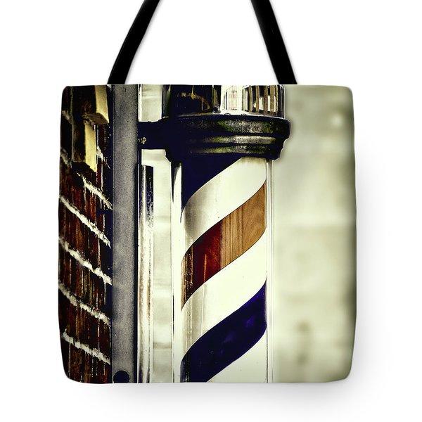 Old Time Barber Pole Tote Bag