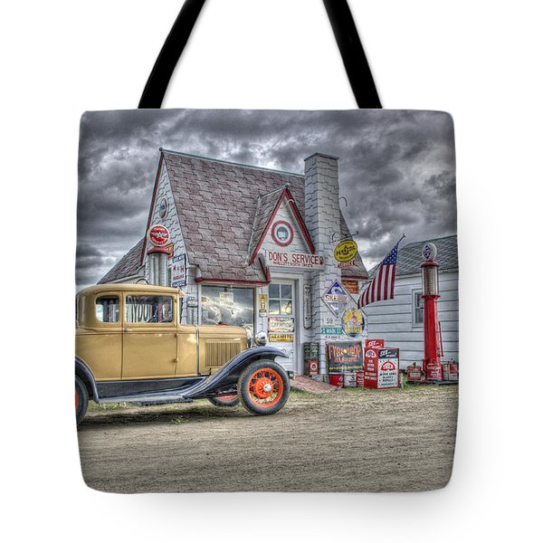 Old Time Gas Station Tote Bag