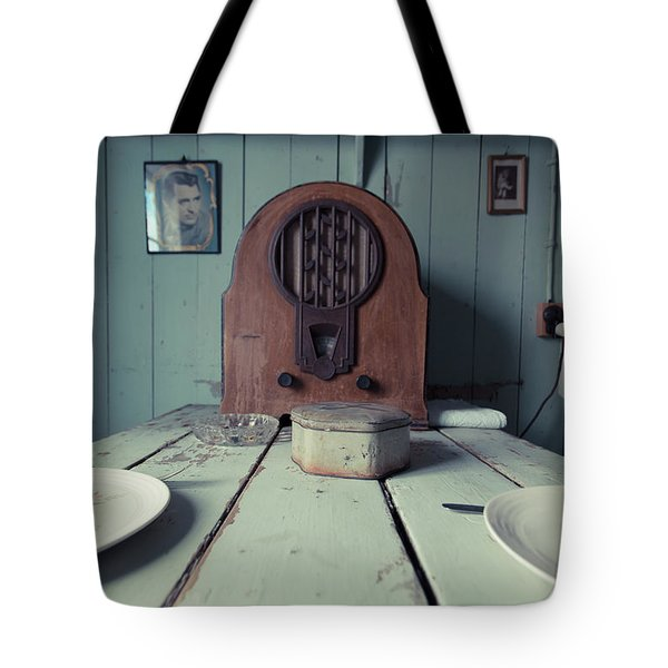 Tote Bag featuring the photograph Old Time Kitchen Table by Edward Fielding