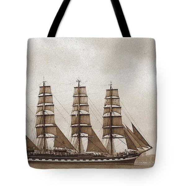 Old Time Schooner Tote Bag