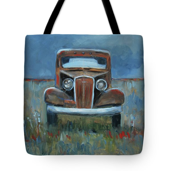 Tote Bag featuring the painting Old Timer by Billie Colson