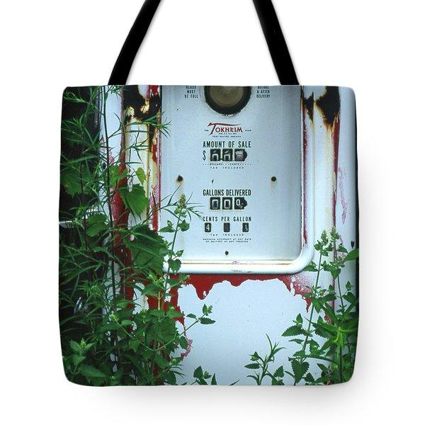 6g1 Old Tokheim Gas Pump Tote Bag