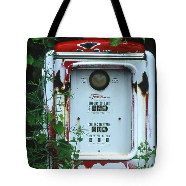 6g1 Old Tokheim Gas Pump Tote Bag