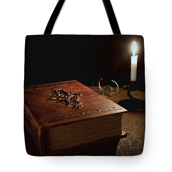 Old Tome Still Life II Tote Bag by Tom Mc Nemar