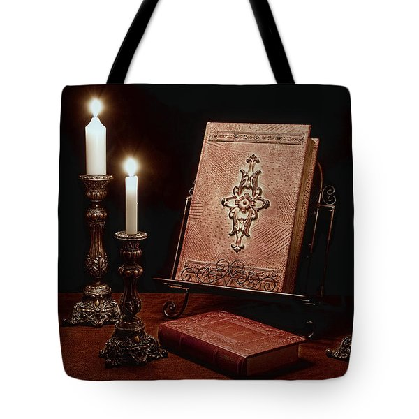 Old Tome Still Life IIi Tote Bag