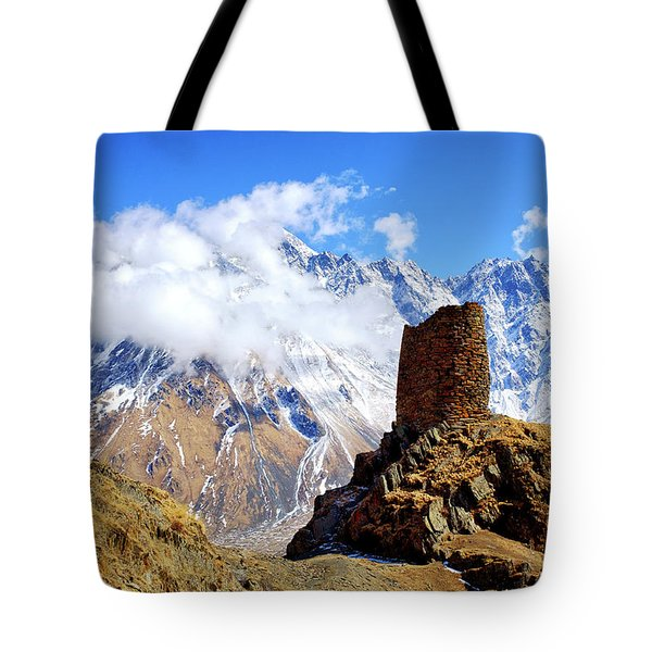 Tote Bag featuring the photograph Old Tower by Fabrizio Troiani