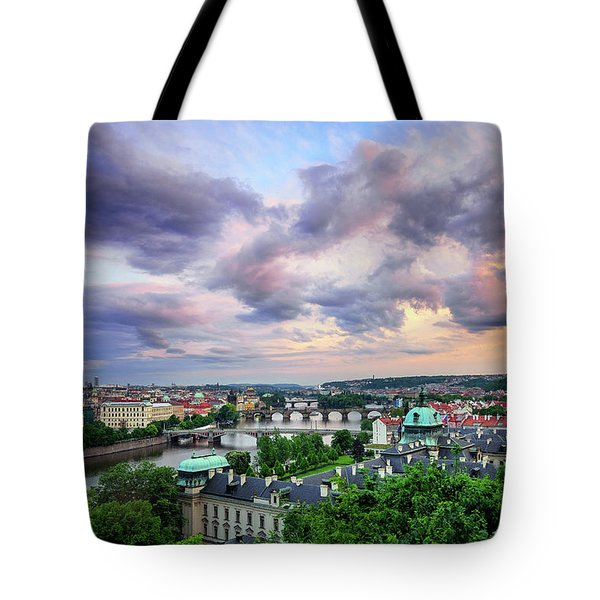 Old Town And Charles Bridge, Prague, Czech Republic Tote Bag