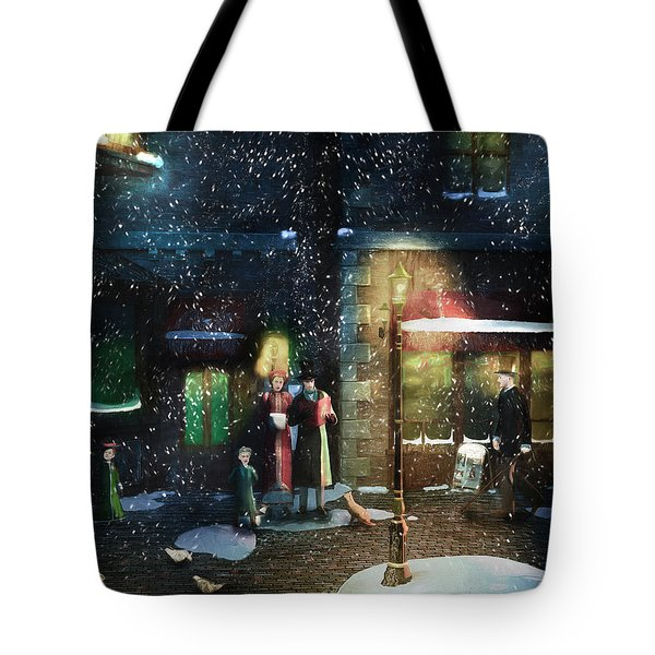 Old Town Christmas Eve Tote Bag