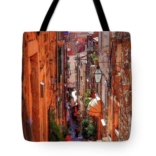 Old Town Dubrovniks Inner Passages Tote Bag