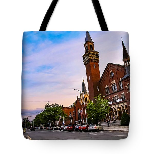 Tote Bag featuring the photograph Old Town Hall Easthampton, Ma by Sven Kielhorn