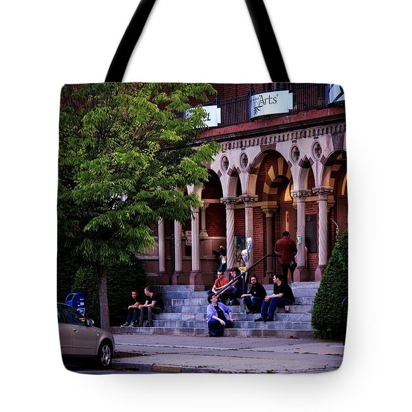 Tote Bag featuring the photograph Old Town Hall In The Summer by Sven Kielhorn