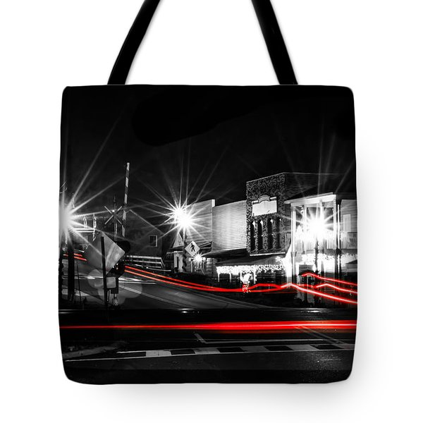 Old Town Helena At Night Tote Bag by Shelby  Young