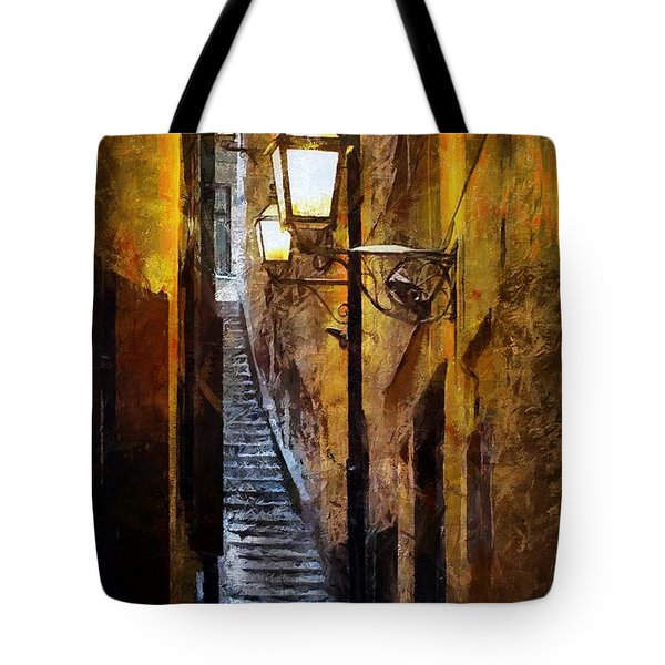 Old Town In Stockholm Tote Bag
