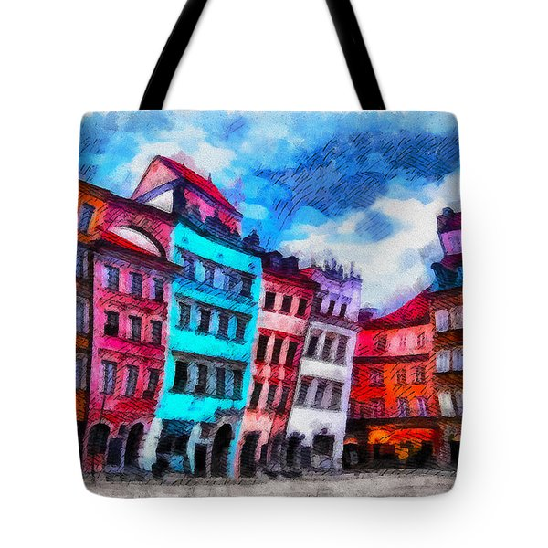 Old Town In Warsaw #11 Tote Bag