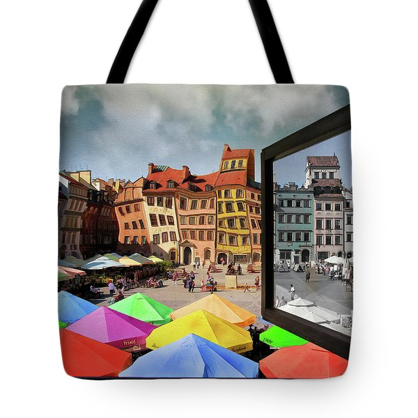 Old Town In Warsaw #13a Tote Bag