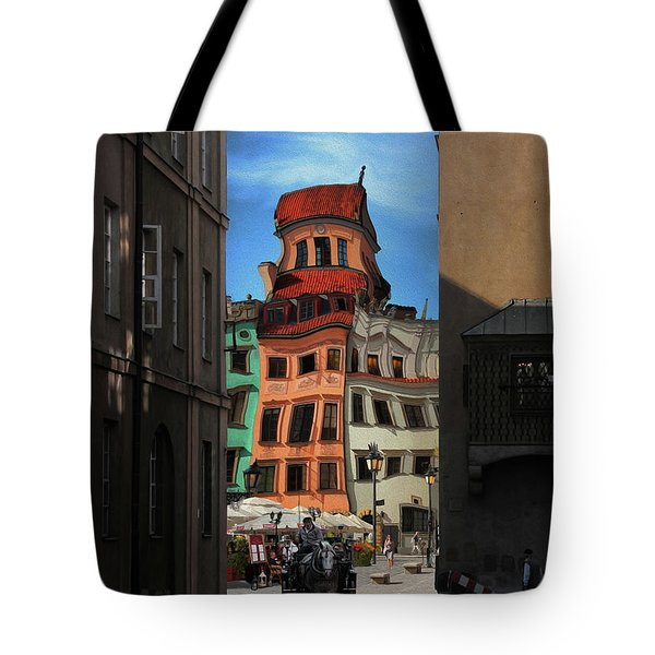 Old Town In Warsaw #14 Tote Bag