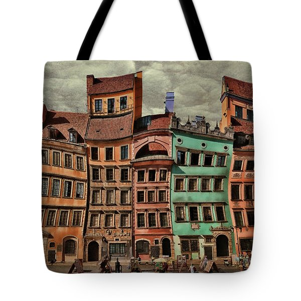 Old Town In Warsaw #15 Tote Bag